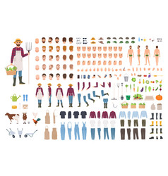 farmer farm or agricultural worker constructor or vector image