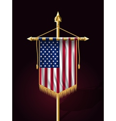 Flag of United States of America Banner Vertical vector
