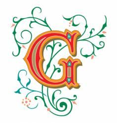 floral letter g vector image