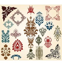 Floral motifs vector