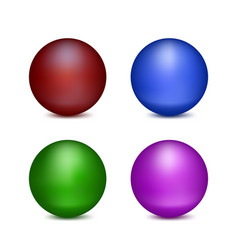 four colored balls vector image