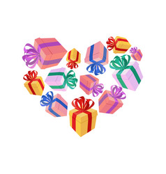 gifts heart i love gift i like holidays vector image