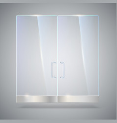 Glass door with reflection and shadows isolated vector