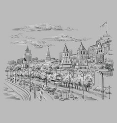 grey moscow-2 vector image