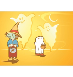 Halloween Ghosts vector