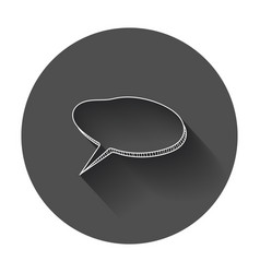 Hand drawn thought speech bubble on black vector