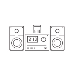 icon modern stereo system with dock station vector image