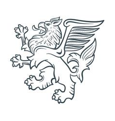 Image heraldic griffin vector