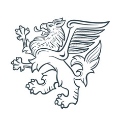 image of the heraldic griffin vector image