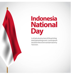 Indonesia national day template design vector