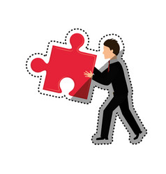 Jigsaw puzzle piece vector