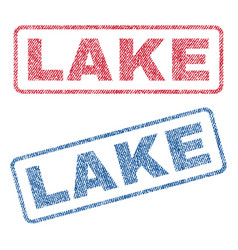 Lake textile stamps vector