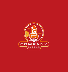Letter g rocket logo design vector