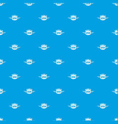 made in usa pattern seamless blue vector image
