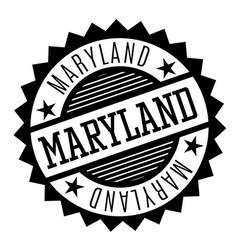 Maryland black and white badge vector