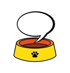 mascot dish food icon vector image