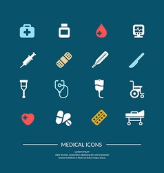Medical icons Elements and icons for cards poste vector image