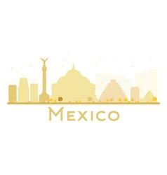Mexico City skyline golden silhouette vector
