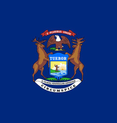 Michigan state flag vector