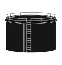 Oil storage tankoil single icon in black style vector
