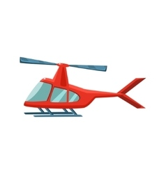 Red helicopter toy aircraft icon vector