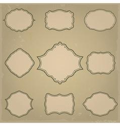 Retro frames vector