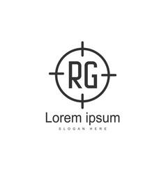 Rg logo template design initial letter logo design vector