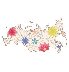 Russian painted map vector