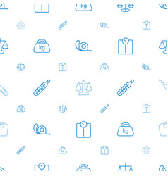 Scale icons pattern seamless white background vector