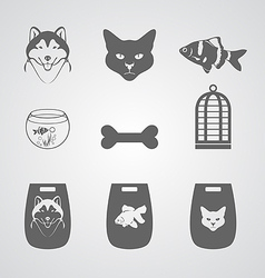 Set icon for pets shop vector