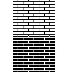 Set of black and white brick wall brickwork vector