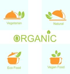 Set of Vegetarian Food Icons vector image