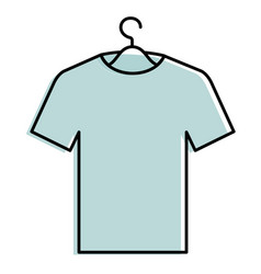 shirt hanging in hook vector image