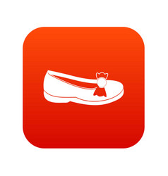 shoe icon digital red vector image