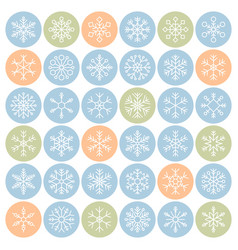 snowflakes in circle icon pixel perfect vector image