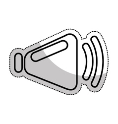 speaker audio device icon vector image