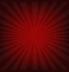 Sunburst dark red retro poster vector