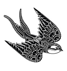 swallow logo vector image