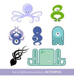 symbols octopus vector image vector image