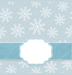 this is a christmas and new year frame vector image
