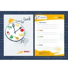 Time for lunch Menu design element for cafe vector image