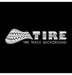 Tire track black text background vector