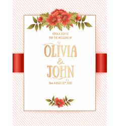 Wedding invitation card invitation card with vector