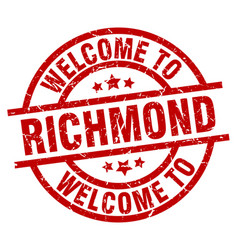 welcome to richmond red stamp vector image