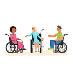 wheelchair disabled young people vector image