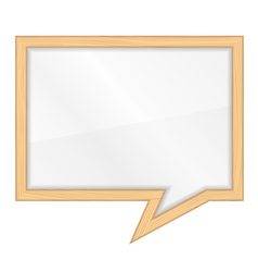Wooden frame shaped as speech bubble vector image
