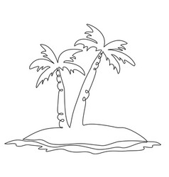 exotic lonely island vector image