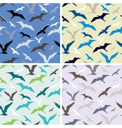 flying birds abstract seamless pattern vector image vector image