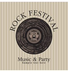 rock music party vector image