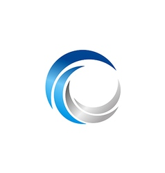 circle abstract technology blue logo vector image vector image